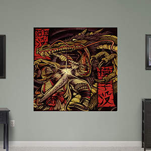 Samurai versus Dragon by Joey Hernandez Fathead Wall Decal